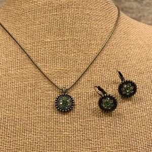 Lia Sophia set w/Blue, Green and Yellow Crystals